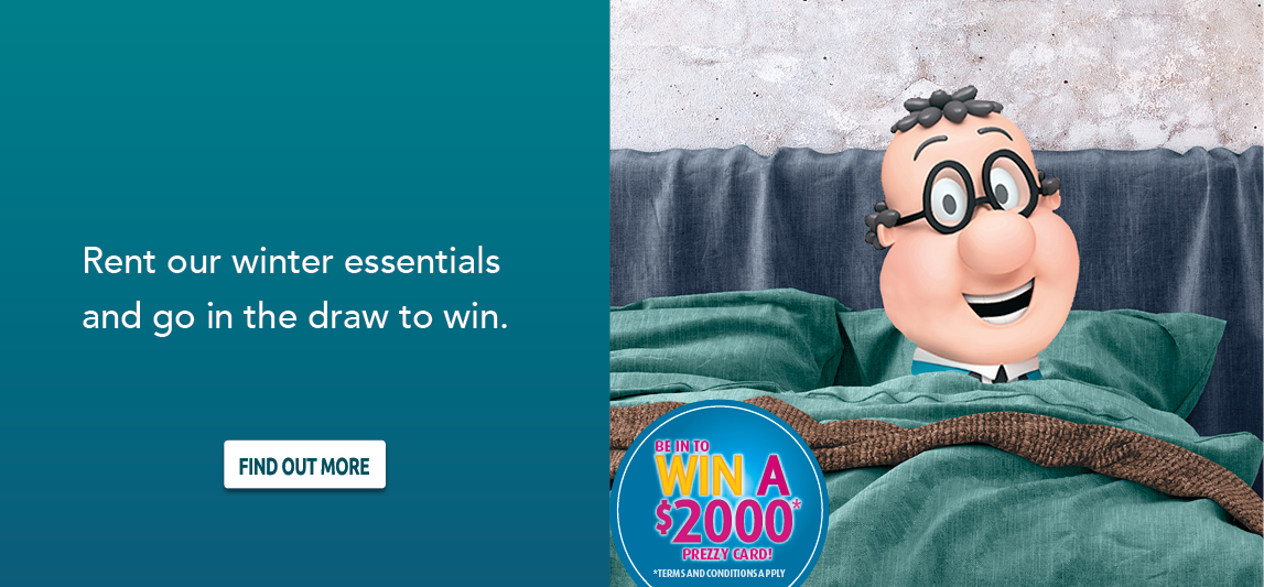 Rent our winter essentials and go in the draw to win.