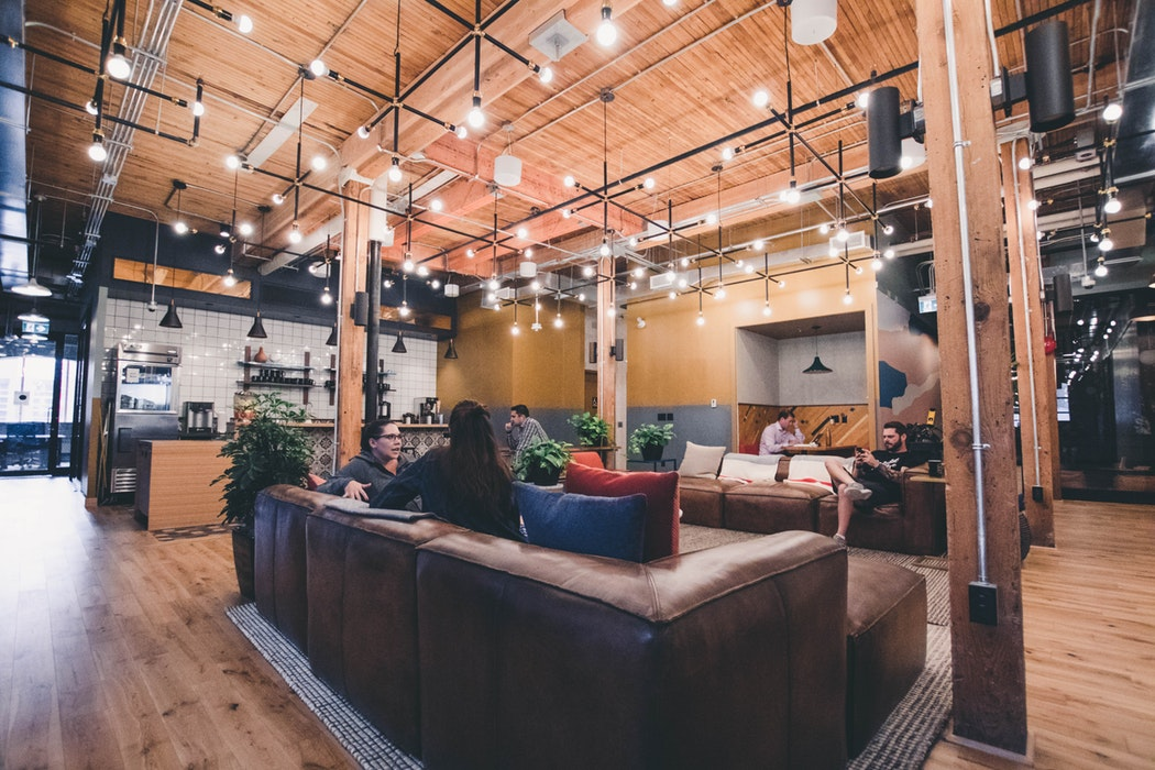 Co-working space with lounge area